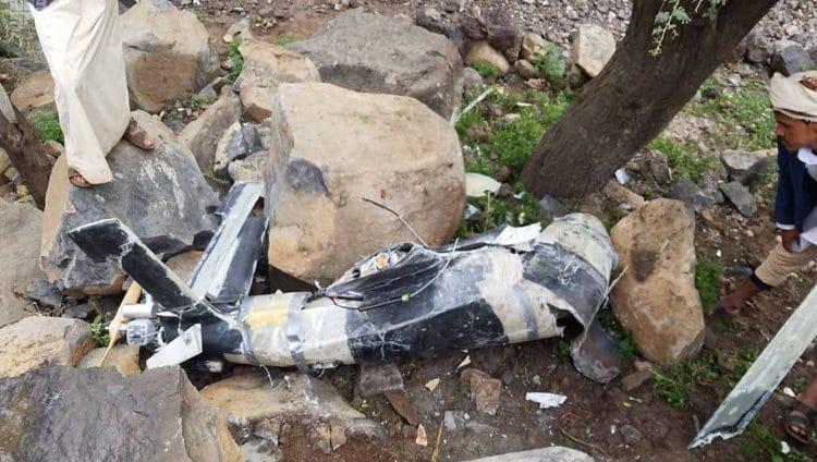التحالف: ميليشيا الحوثي أطلقت طائرة مسيرة وسقطت على المدنيين في عمران