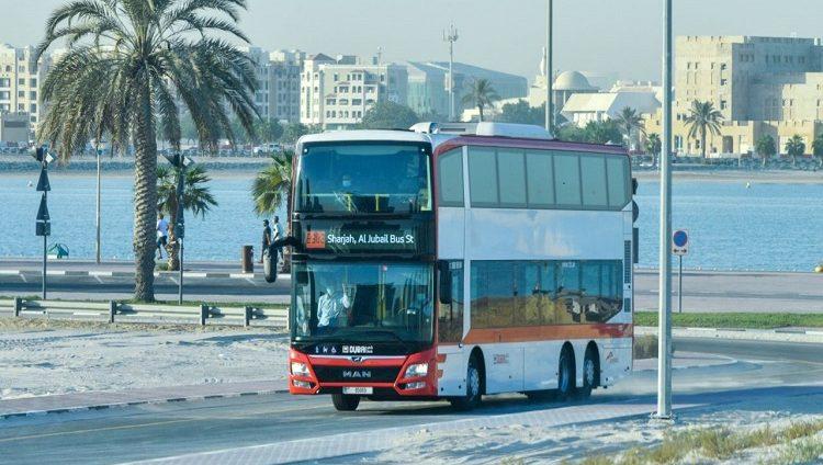 افتتاح الطريق الجديد المخصص للحافلات العامة فقط لنقل الركاب بين دبي والشارقة اليوم
