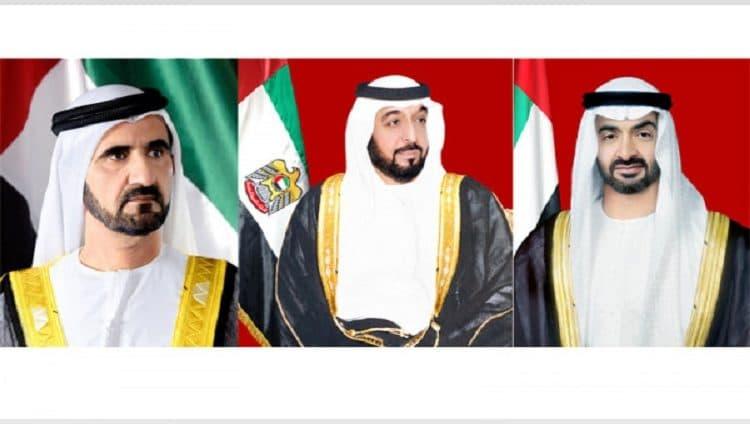 رئيس الدولة ونائبه ومحمد بن زايد يتلقون تهاني قادة الدول العربية والإسلامية بمناسبة العيد