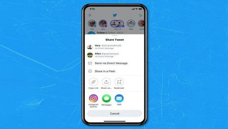تويتر تسمح لمستخدمي iOS بنشر التغريدات في قصص إنستغرام