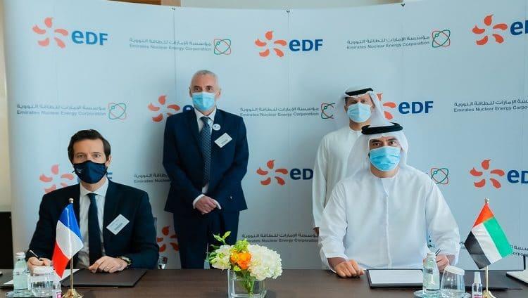"""""""الإمارات للطاقة النووية"""" و""""إي دي إف"""" الفرنسية توقعان خطاب نوايا للتعاون في مجال البحث والتطوير"""