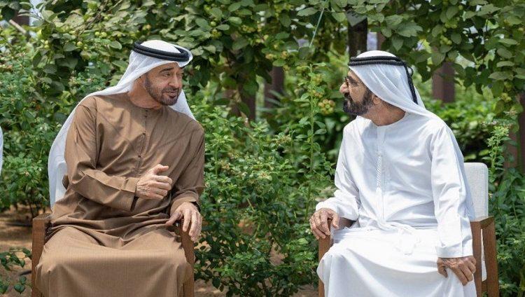 محمد بن زايد يستقبل محمد بن راشد ويستعرضان دورة جديدة من المشاريع الوطنية